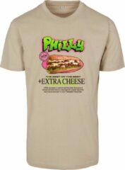 Zandkleurige Mister Tee Heren T-Shirt Philly Sandwich Tee