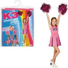 Roze Studio 100 K3 Verkleedjurk Cheerleader Maat 134 - Carnavalskleding