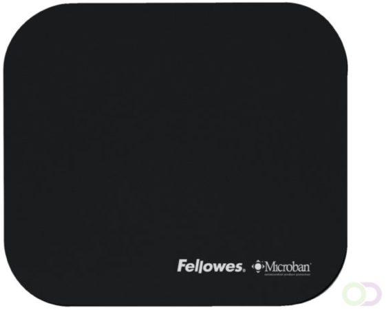 Afbeelding van Muismat Fellowes microban zwart
