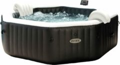 Witte Intex Jet & Bubble Deluxe Octagon opblaasbare jacuzzi - 6 persoons