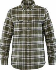 Groene Fjällräven Fjallraven Ovik Heavy Flannel Shirt Men - Heren - Blouse - Deep Forest