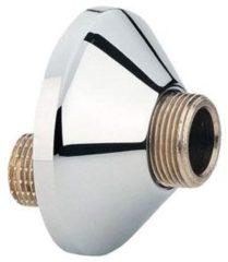 """Zilveren GROHE S-Koppeling - 1/2"""" x 3/4"""" - Schroefrozet - Kraan onderdelen - 2 stuks"""