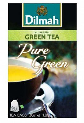 Afbeelding van Dilmah All Natural groen Tea Pure groen 20st