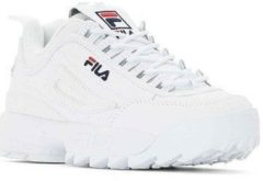 Witte Lage Sneakers Fila disruptor ii white navy red