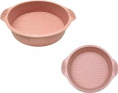 ZijTak - Ronde bakvorm - Silicone - Taart vorm - Gebak - Cake - Koekjes - Dessert - Chocolade Brownie - Toetjes - Quiche - Goede kwaliteit - Anti kleeflaag - Bakken - Pastel roze