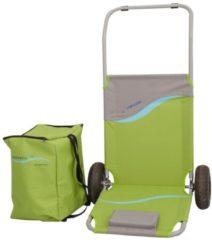 Alu Strandliege klappbar mit Gummi Reifen und Tasche 118 x 63 cm Gartenliege Sonnenliege Relaxliege Meerweh grün/grau