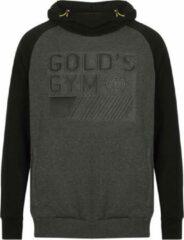 Gold's gym Pullover Embossed Hoodie zwart/grijs - s