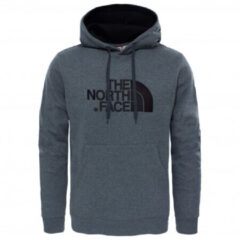Grijze The North Face Drew Peak PLV Hoodie - Outdoortrui - Heren - TNF Medium Grey Heather/TNF Black