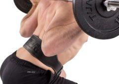 Tunturi Marcy Gewichthefriem van Leer - 90x10 cm - Zwart