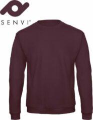 Bordeauxrode Merkloos / Sans marque Senvi Basic Sweater (Kleur: Burgundy) - (Maat XXXXL 4XL)