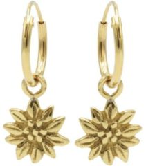 Karma Jewelry Karma Oorringen Hoops Sunflower Goud