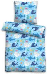 Kinderbettwäsche, Biberna, »Sea Life«, mit bunten Tiermotiven