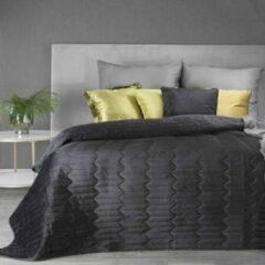 Luxe bed deken Brulo Polyester sprei 170x210 cm Gewicht-260+120+65 GSM zwart