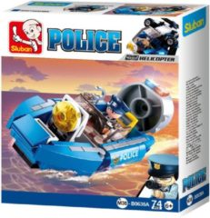 Blauwe Sluban Police Hoovercraft M38-B0638A