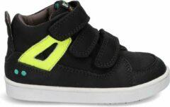 BunniesJR Patrick Pit Jongens Sneakers - Maat 25 - Zwart - Sneakers - Stap Bunnies - Leer - Klittenband - Kindersneakers/Kinderschoenen