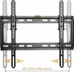 Zwarte Merkloos / Sans marque TV beugel, universeel, ultradunne TV muurbeugel, 20-55 inch, tv steun, muurbeugel met waterpas