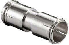 Grijze Koppelstuk f-connector quick mannelijk - f-connector quick mannelijk