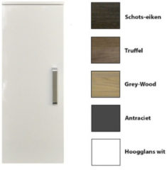 Antraciet-grijze Kolomkast Sanicare Q9/Q10/Q11 Soft-Close Deur Chromen Greep 90x33,5x32 cm Antraciet