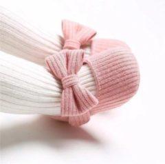 Happy Alpaca Babyschoentjes - Meisjes Schoenen - Sloffen - Roze - Maat 21 voor 12-18 maanden (13 cm)