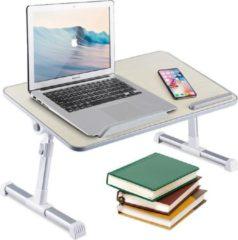 Groene Greenure laptop tafel – standaard verstelbaar en inklapbaar – voor op bed of bank - wit