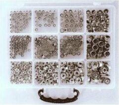 Zilveren Bofix Assortimentbox 12 Vakken Borg-/flensmoeren (222900)
