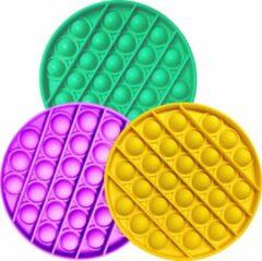 Paarse TechNow Pop It Fidget Toys - Pop It Fidget Toys Speelgoed Fidget Toy - 3 Stuks