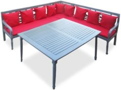 VidaXL Tuinhoekbanken- en tafelset massief acaciahout 16-delig