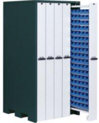 APFEL Vertikalschrank HxBxT 2140x1040x1050 mm mit 90 Lagerwannen RAL 7016/9002