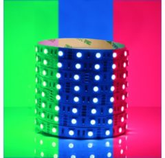 Groenovatie RGB LED Strip - 5 Meter - 14.4 Watt/meter - 5050 LED's - Doorkoppelbaar - 12V