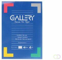 Blauwe Gallery schrijfblok formaat A4 gelijnd 100 vel