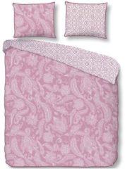 Descanso Cairo dekbedovertrek - 100% katoen-satijn - Lits-jumeaux (240x200/220 cm + 2 slopen) - Roze
