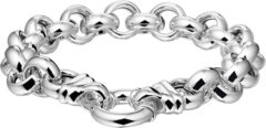 Zilveren The Jewelry Collection Armband Jasseron 11 mm - Zilver