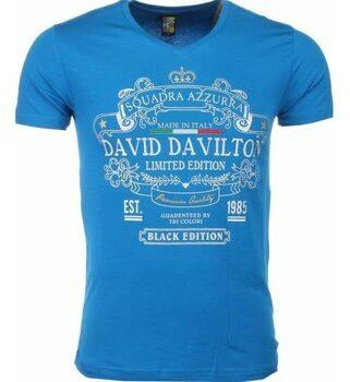 Afbeelding van Local Fanatic T-shirt - Black Edition Print - Blauw T-shirt - Black Edition Print - Blauw Heren T-shirt Maat XS