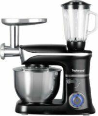 Roestvrijstalen Techwood - Keukenmachine TRP-1366 – 3-in-1 - Blender – Vleesmolen