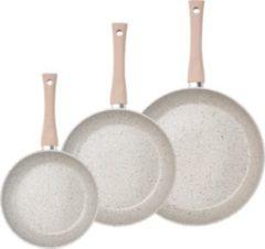 KING Bratpfannen-Set, Aluminium, 3 Teile, Induktion