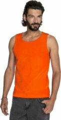 Gildan Oranje casual tanktop/singlet voor heren - Holland feest kleding - Supporters/fan artikelen - herenkleding hemden S (48)