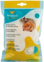 Witte Ferplast Nestmateriaal Katoenvezels - Hamster - ± 25 gr