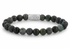 Rebel & Rose Rebel and Rose rr-80044-S Rekarmband Beads groen Rocks zilverkleurig-groen 8 mm M 17,5 cm