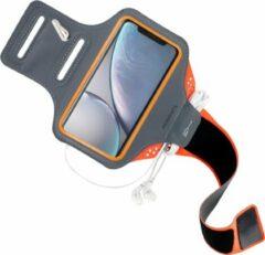 Mobiparts Comfort Fit Sport Armband Apple iPhone XR Sporthoesje Oranje