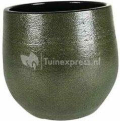 Donkergroene Ter Steege Pot Zembla groen bloempot binnen 20 cm