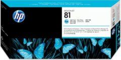 Cyane HP 81 licht-cyaan DesignJet printkop en printkopreiniger voor kleurstofinkt