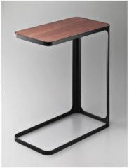 Yamazaki Bijzettafel Frame zwart - RVS - hout