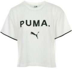 Witte Puma Women's Chase Mesh Short Sleeve T-Shirt - Puma White - M - White
