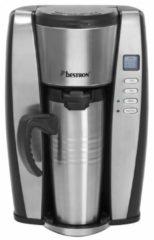Zilveren Bestron Acup650 personal thermo koffiezetter met timer