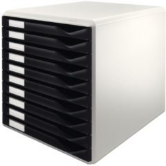 Leitz Ladenkastje 52810095 Polystyreen Zwart, grijs 28,5 x 35,5 x 29 cm
