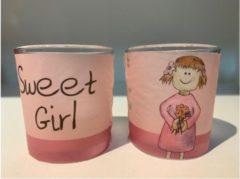 Roze Sweet Girl / Een Lichtje voor jou :-)