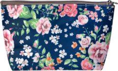 Toilettas   21*12 cm   Meerkleurig   Polyester   Rechthoekig   Bloemen   Melady   MLTT0080