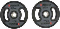 Zwarte Hammer Fitness Hammer - PU - Olympische Halterschijven - per Paar - 2x 20 kg