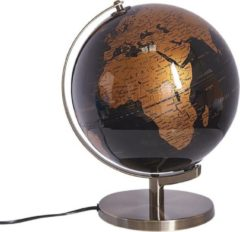 Zilveren Globe zwart/ koper met LED verlichting MAGELLAN