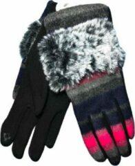Roze Winter handschoenen SO FOXY van BellaBelga - pink-grijs